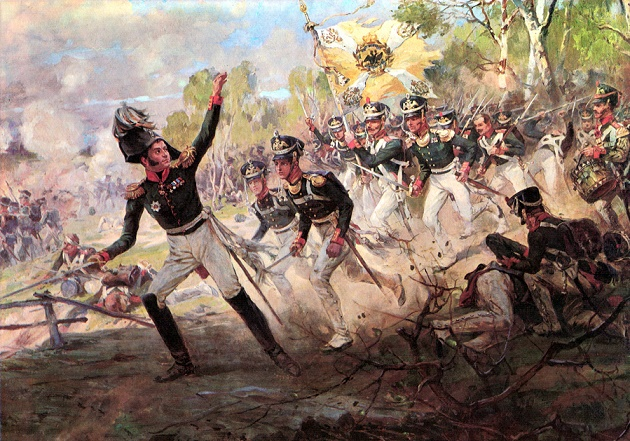In which battle the Russians for the first time defeated Napoleon