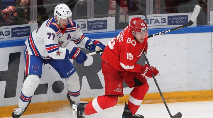 """KHL. SKA for the first time in a season has beaten """"Spartak"""""""