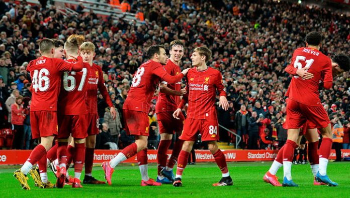 Liverpool youth team lost