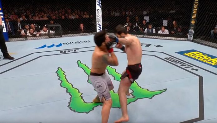 Martial arts. Zubayra tukhugov won an early victory over American Aguilar