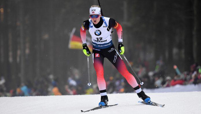 Norwegian March Roseland won the sprint race at the biathlon world Championships
