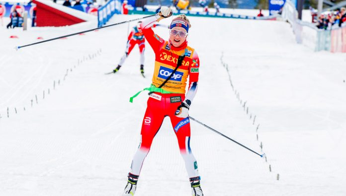 Norwegian skier Johaug was the winner of the