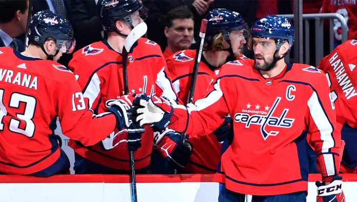 Ovechkin broke the goal silence in the match with