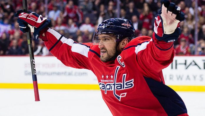 Ovechkin is the first star of day in NHL
