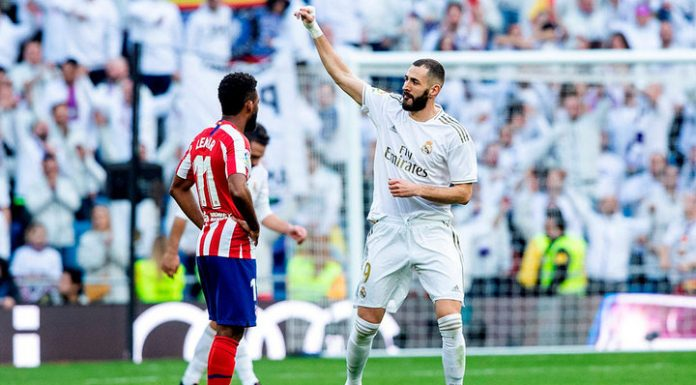 Real Madrid won the Madrid Derby and broke away from Barcelona by six points.