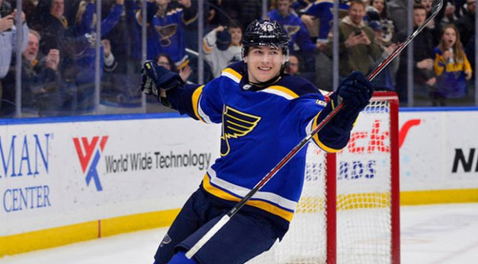 """Scoring double by Ivan Barbashev brought the victory to """"St. Louis"""""""