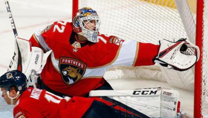 Sergei Bobrovsky allowed three goals in his 500th game in the NHL. Video