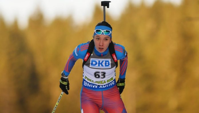 She Kaisheva became the first in the sprint race at the IBU Cup