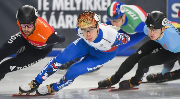 Short-track. The Russians won three medals at the world Cup