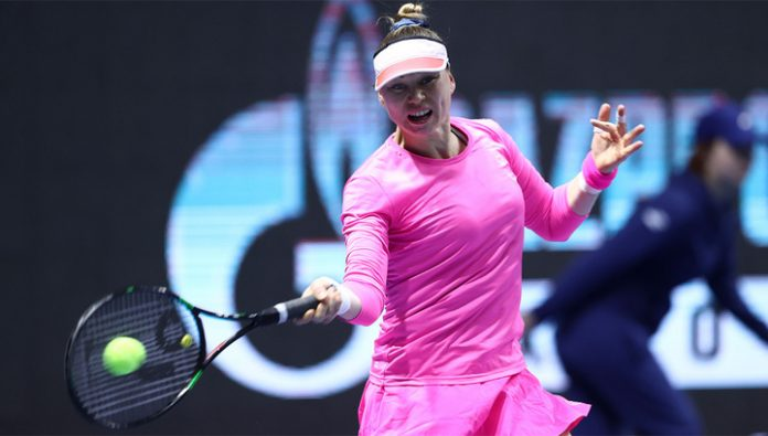 St. Petersburg Ladies Trophy. Zvonareva and Valencia was eliminated in the qualification