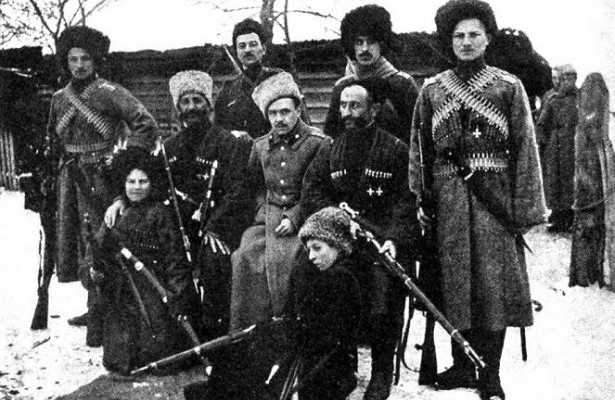 The civil war in the Caucasus who fought against the highlanders