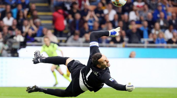 """The goalkeeper of """"inter"""" handanovič injured his hand and will miss several weeks"""