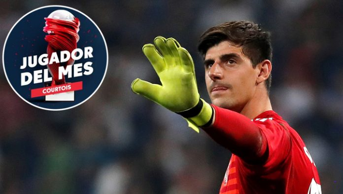 The goalkeeper of real Madrid Courtois was the player of the month in La Liga