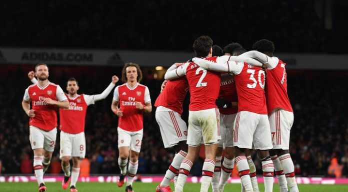 The players scored four unanswered goals against Newcastle
