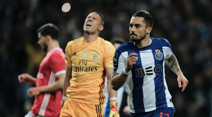 The Portuguese League. Porto ended the 16-game winning streak, Benfica
