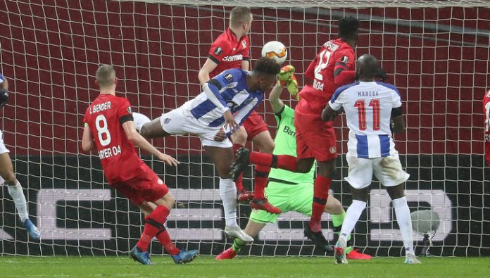 The UEFA Europa League. A goal of ze Luis is not saved Porto from defeat at Bayer
