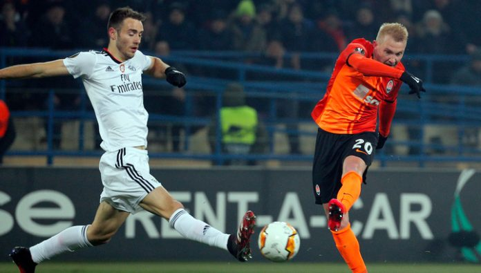 The UEFA Europa League. Shakhtar got the better of Benfica in Kharkov