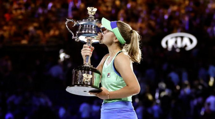 The winner of the Australian Open Kenin climbed to seventh place in the WTA rankings