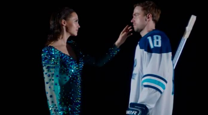 """""""This is our present"""": Hlynina and Petrov published the clip, not included in the film """"Ice 2"""""""