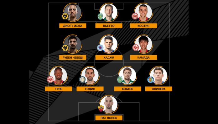 UEFA has named the team of the week in the Europa League