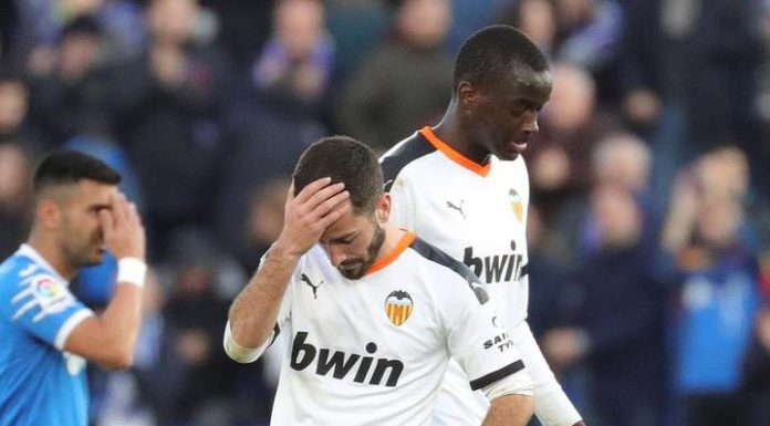 Valencia without Cheryshev lost with a big score Getafe