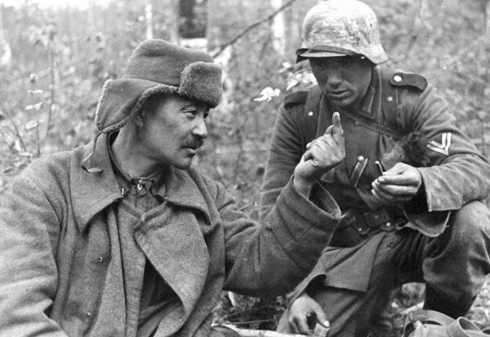 What are the unwritten rules of the war kept the Soviet and German soldiers