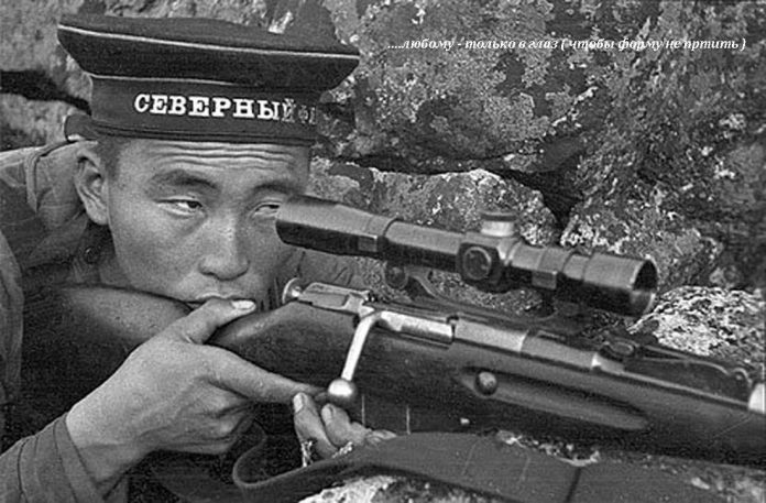 What the peoples of the USSR the best shot in the Great Patriotic