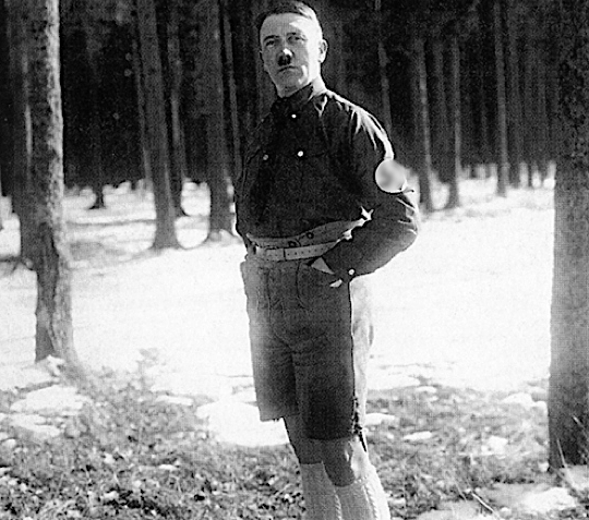 Why did Hitler wore half pants