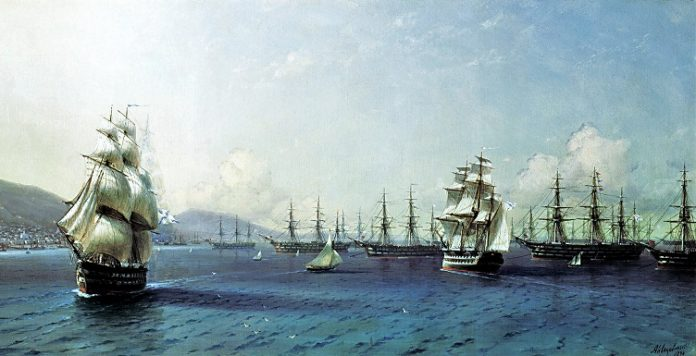 Why do Russian sailors have drowned the black sea fleet in the Crimean war