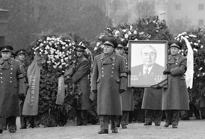 Why escort of the late Leonid Brezhnev consisted of 44 officers