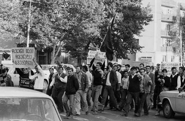 Why in Georgia there was an uprising against the Russian language in 1978