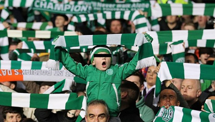 Young supporter of the Scottish