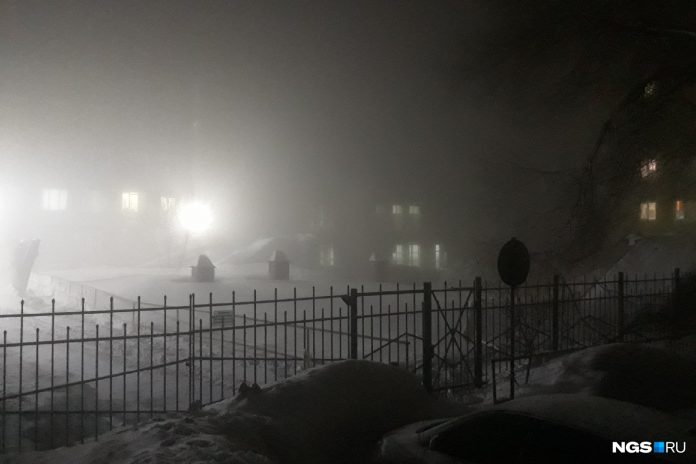 A thick morning fog enveloped the Novosibirsk — look photo
