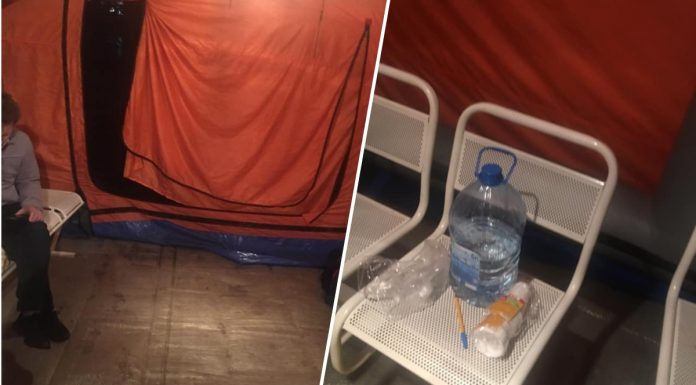 """""""From the hospital want to do rubber"""": Siberian with suspected coronavirus spent the night in a tent at city hospital No. 11"""