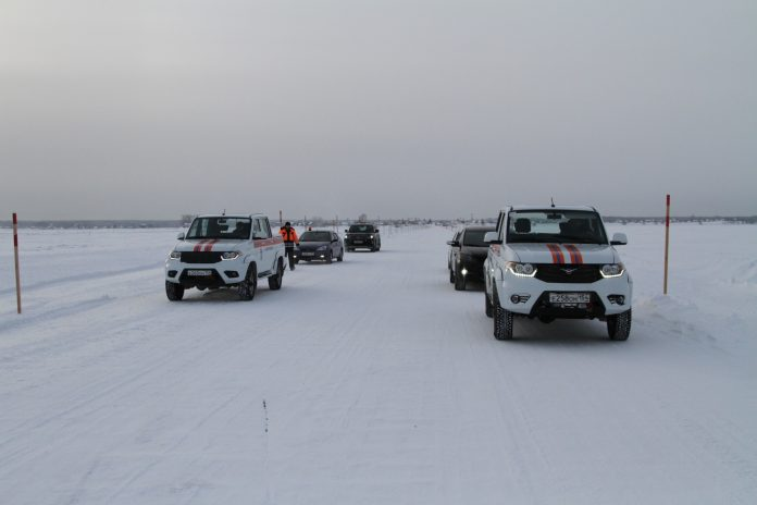 In the Novosibirsk region opened the ice road across the Ob