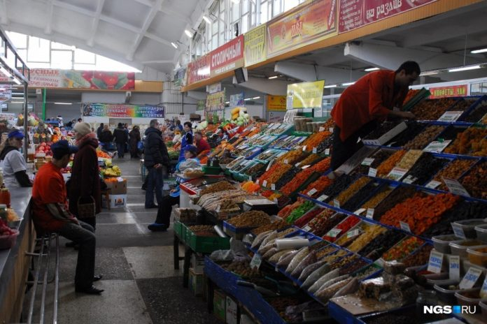 The Governor was allowed to work in grocery markets in Novosibirsk