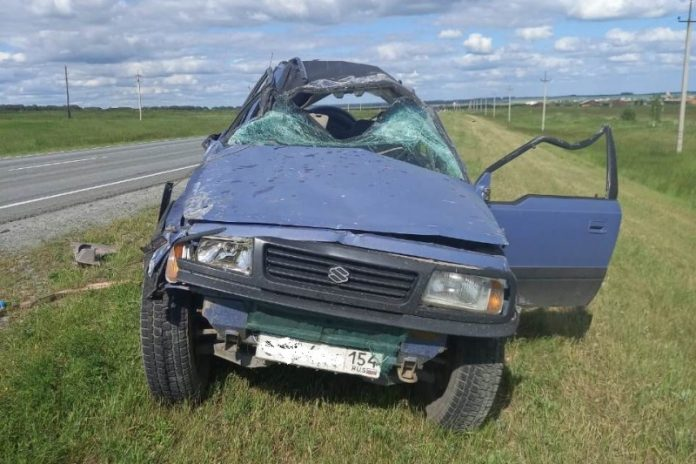 A fatal fall in a ditch: in Toguchinskiy district killed the driver of a foreign car
