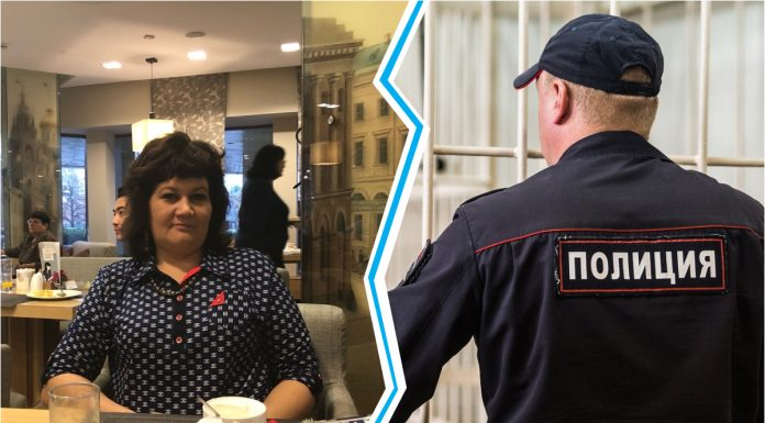 In Novosibirsk, a human rights activist for almost a day sat in the police — she drove the guys who tried to steal the wheels