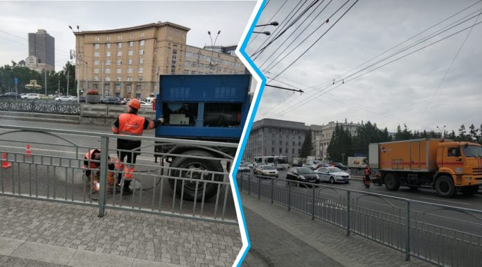 In Novosibirsk before the Victory parade began brewing hatches on Red Avenue
