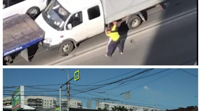 """In the Oktyabrsky district of Novosibirsk, the tow truck and the driver of """"Gazelle"""" started a fight on the roadway, the incident was on video"""