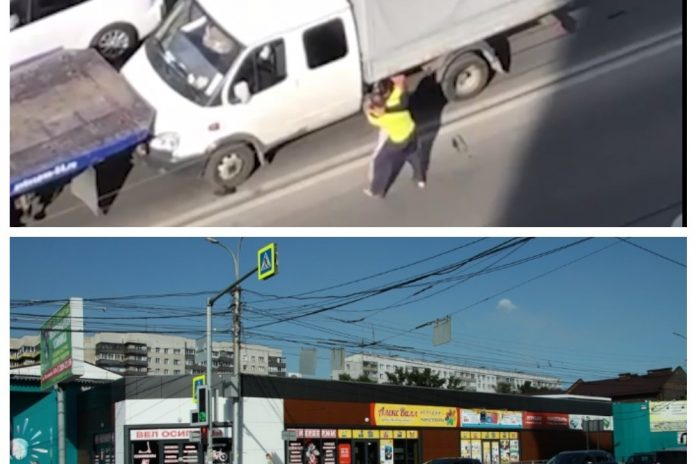 In the Oktyabrsky district of Novosibirsk, the tow truck and the driver of