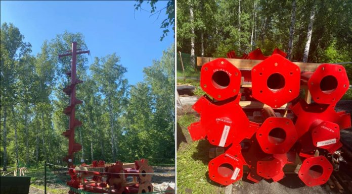 """In the Park """"Bugrinskaya grove"""" began to build an unusual 10-metre attraction — descent directly to the beach"""