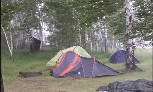 The Novosibirsk region sometimes covered by a strong wind and rain — a hurricane nearly blew the trees and gazebo