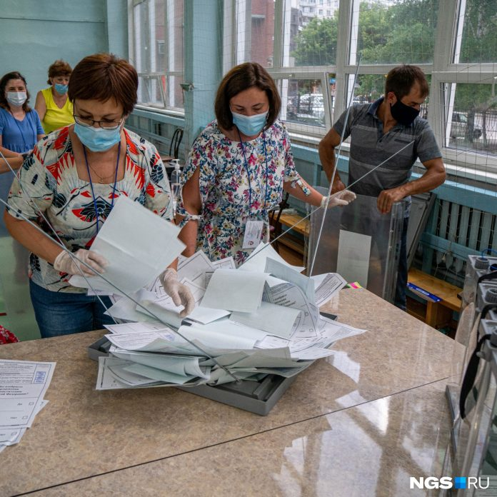 At polling stations in Novosibirsk started counting votes