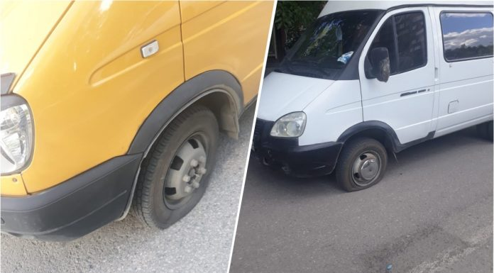 Cut wheels, pick up the phone: unknown in masks attacked two minibuses in Novosibirsk
