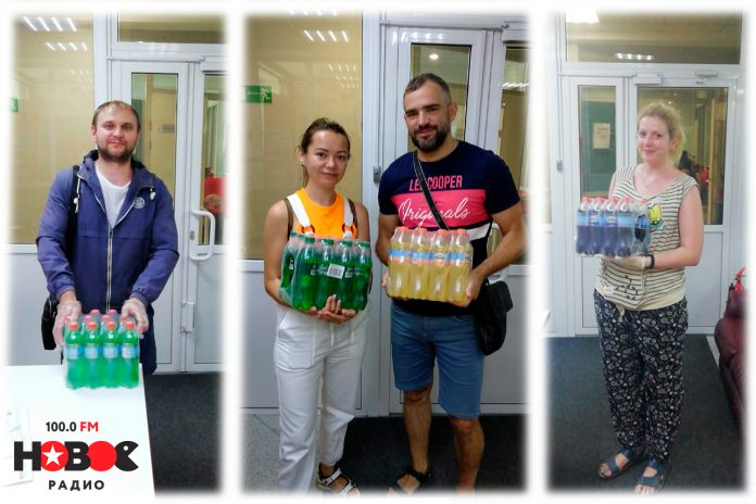 Every weekday Novosibirsk get the box of lemonade from the