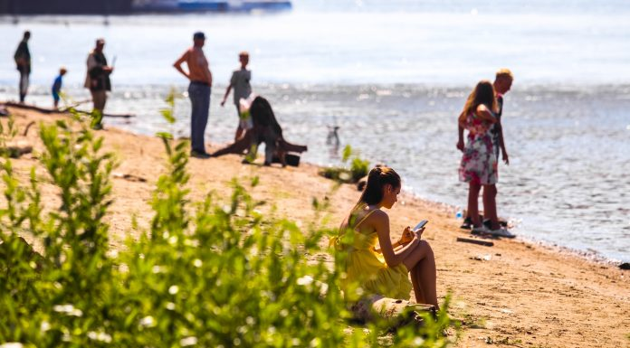 In Novosibirsk were allowed to swim only on the beach