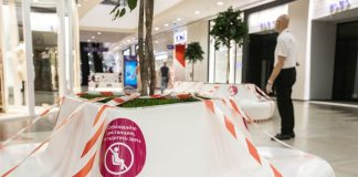 Three months without shopping: photos in the first hours after the opening of one of the main shopping center of Novosibirsk
