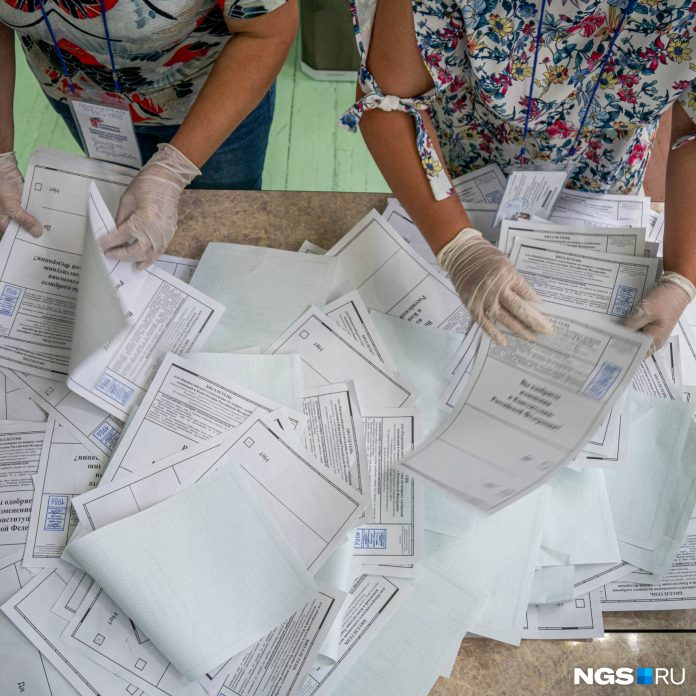 Vote of Novosibirsk oblast. The processing results of the first ballot (all predictable)