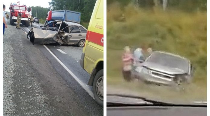 """""""Cars were scattered to the sides"""": in Novosibirsk have faced VAZ-2114 and """"Honda"""""""